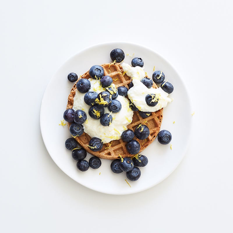 Photo of Waffles with lemony ricotta and blueberries by WW