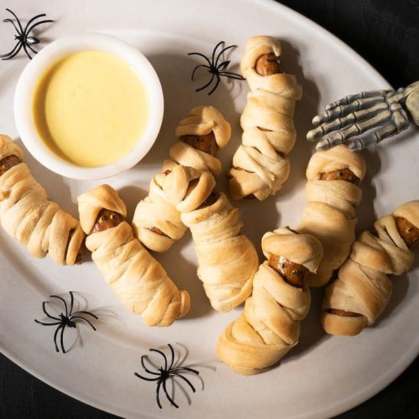 Photo de Momies de saucisses en pâte d'Halloween par WW