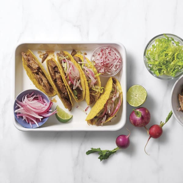 Photo of Tex-Mex red chile pork tacos by WW