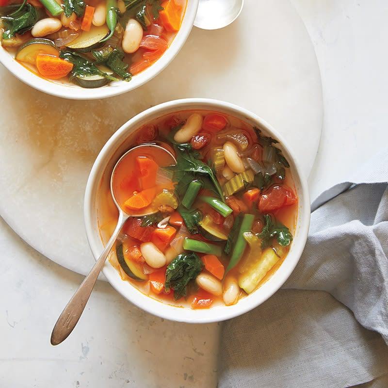 Photo of Instant pot minestrone with pesto by WW