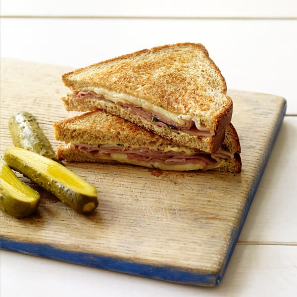 Photo of Grilled ham and cheese with rosemary-dijon spread by WW