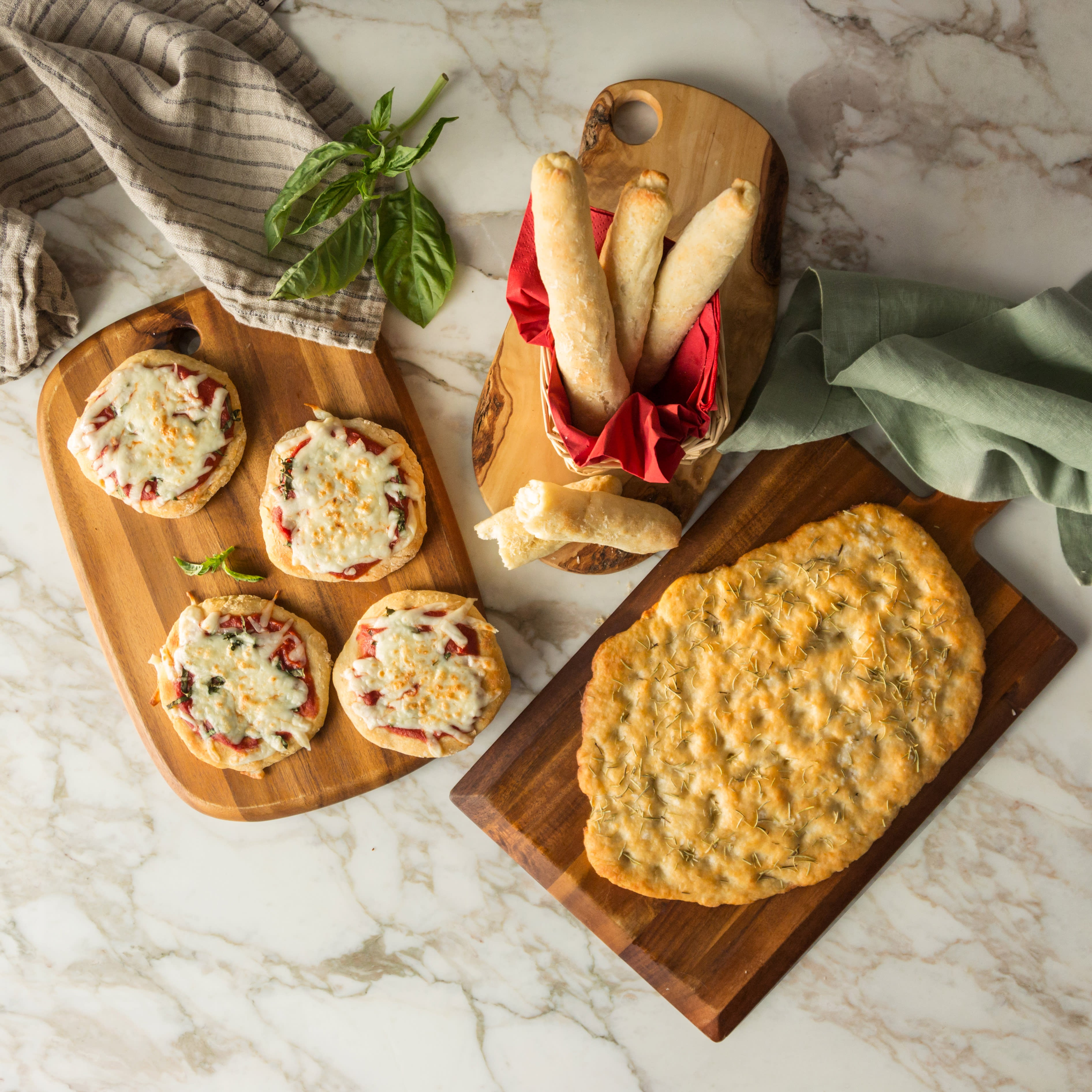 Photo of 2-Ingredient bread three ways - bread sticks by WW