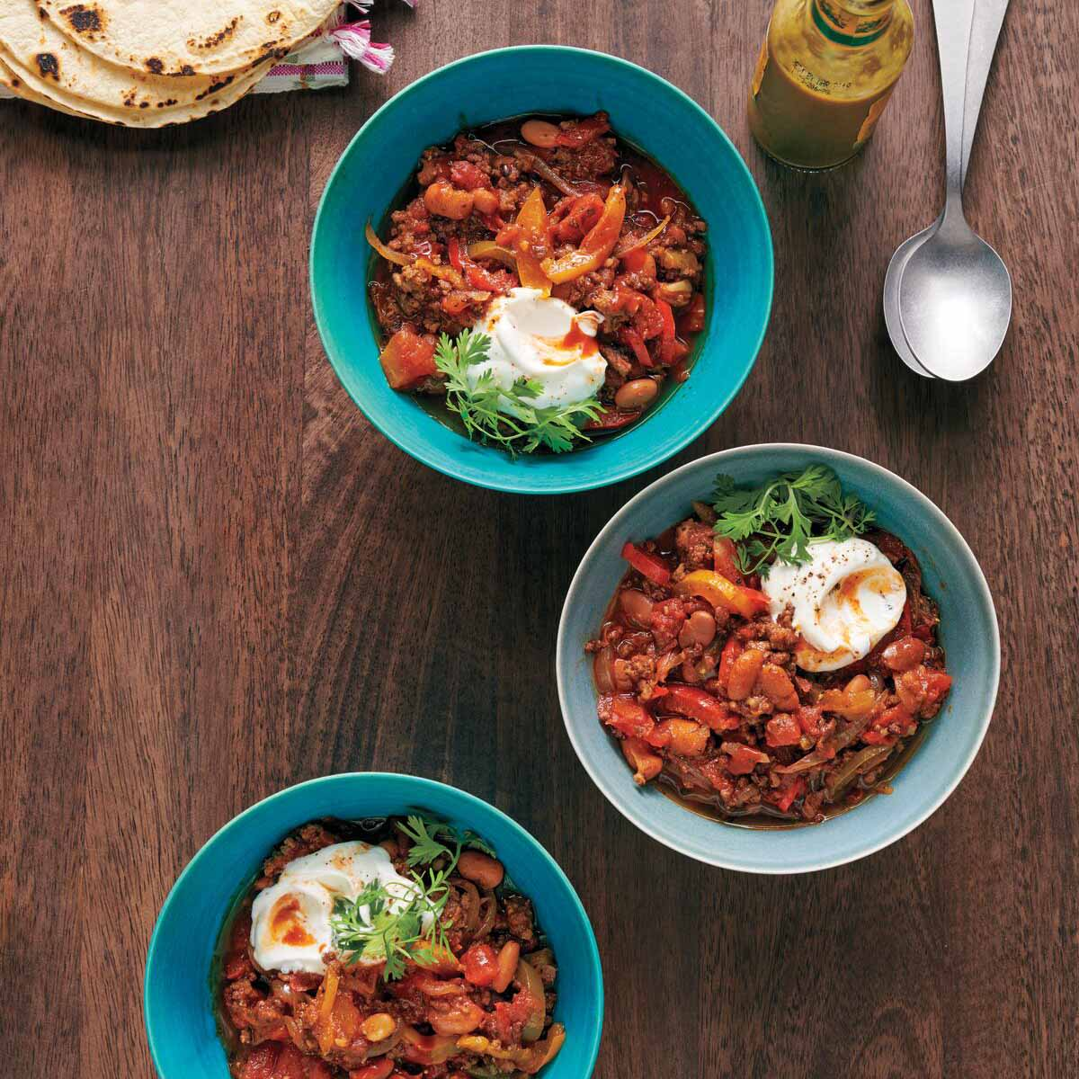 Photo of Beef and pinto bean chili by WW