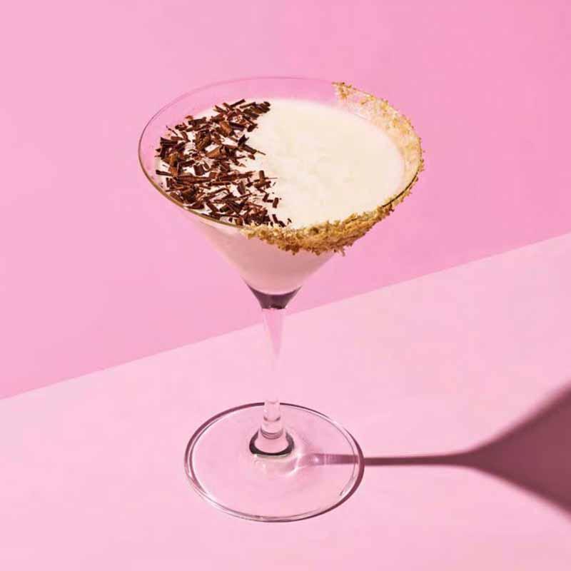 Photo of Chocolate hazelnut martini  with coconut rim by WW
