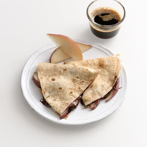 Photo of Chocolate and  pear quesadilla by WW
