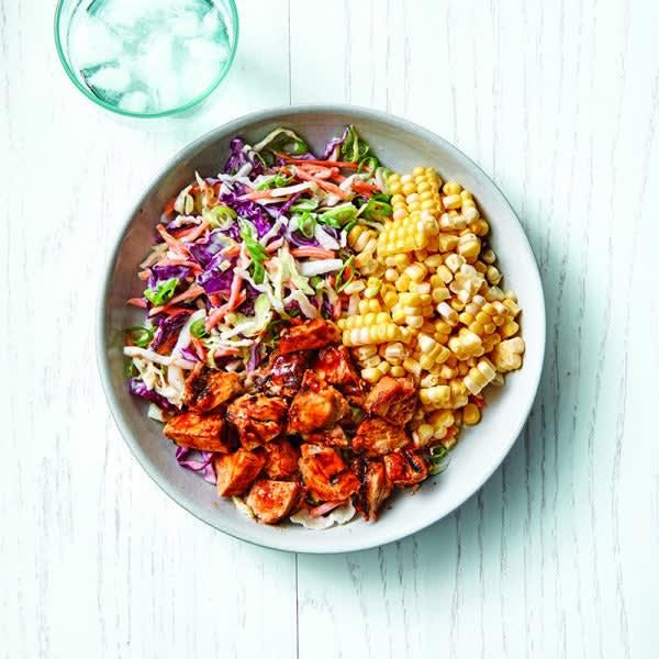 Photo of BBQ chicken, corn & slaw salad by WW