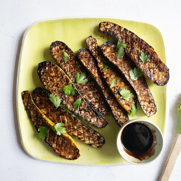 Photo of Grilled summer squash with balsamic glaze by WW