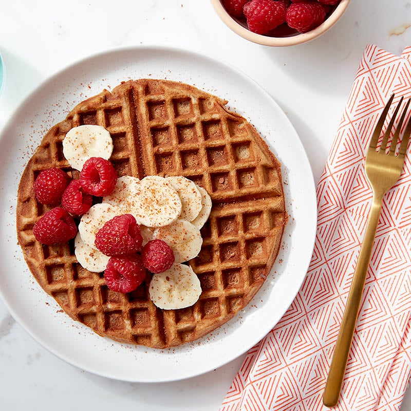Photo of Cinnamon roll-protein waffles by WW