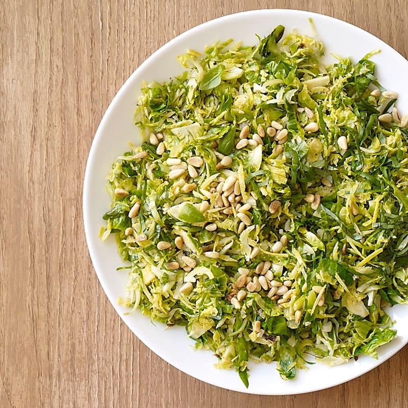 Photo of Shredded Brussels Sprouts with Basil and Pine Nuts by WW