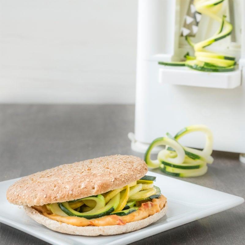 Photo of Spiralized squash & hummus sandwich by WW