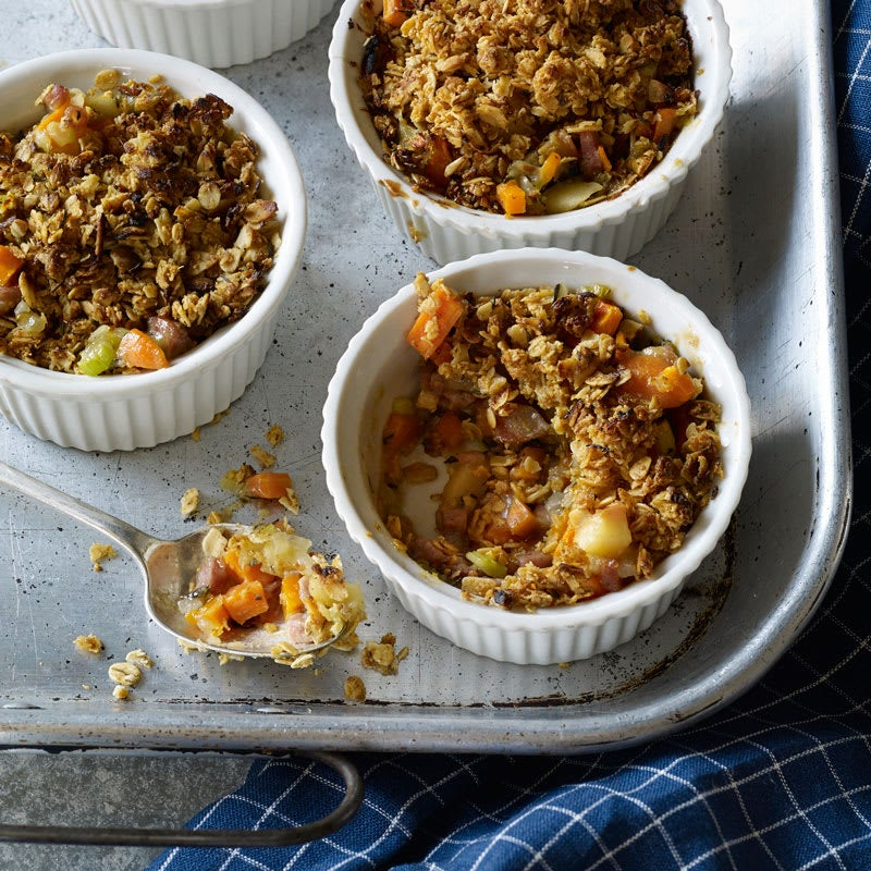 Photo of Savoury Sausage-Apple Crumbles by WW