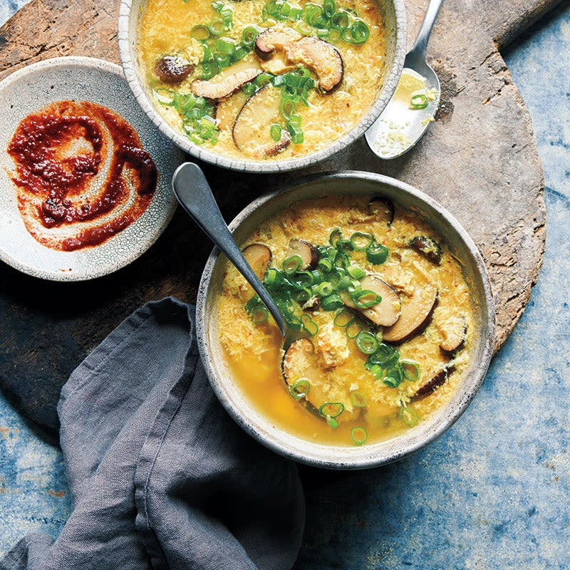 Photo of Egg drop soup with shiitakes and chicken by WW