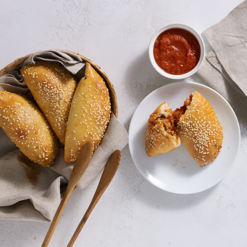 Photo of Turkey meatball calzones by Chef Eric Greenspan by WW