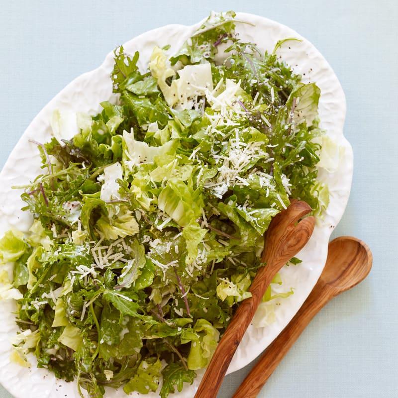 Photo of Kale and escarole Caesar salad by WW
