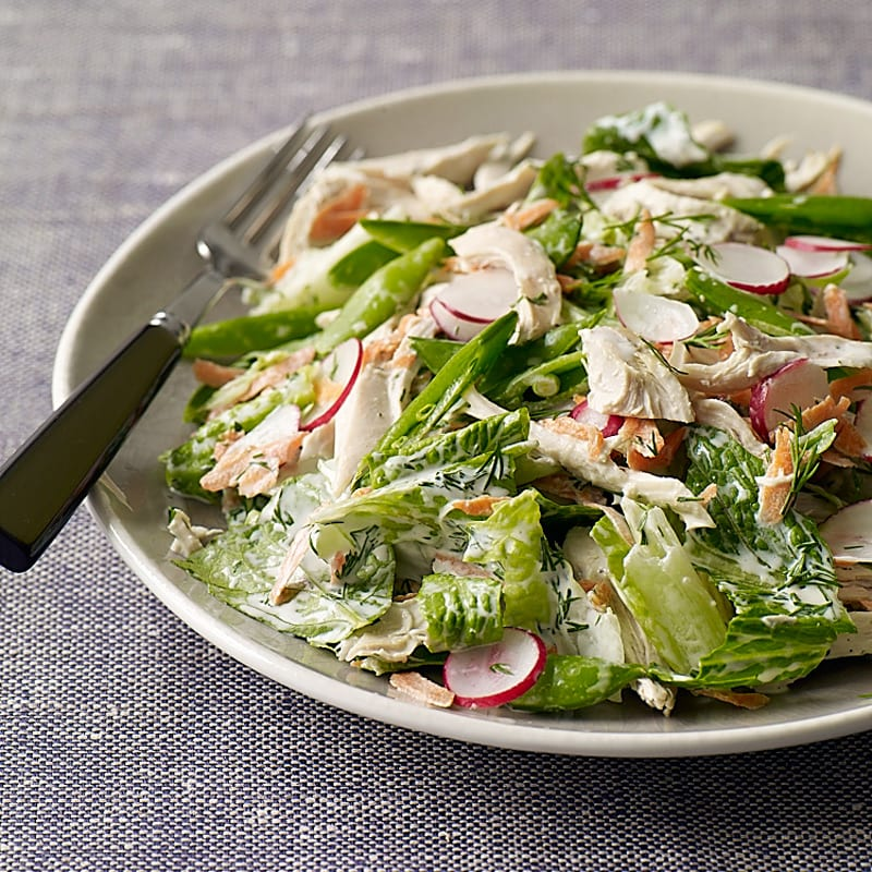 Photo of Spring chicken salad with creamy dill dressing by WW
