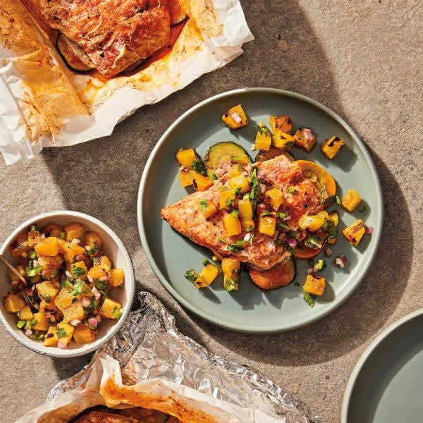 Photo of Grilled snapper with charred pineapple salsa by WW