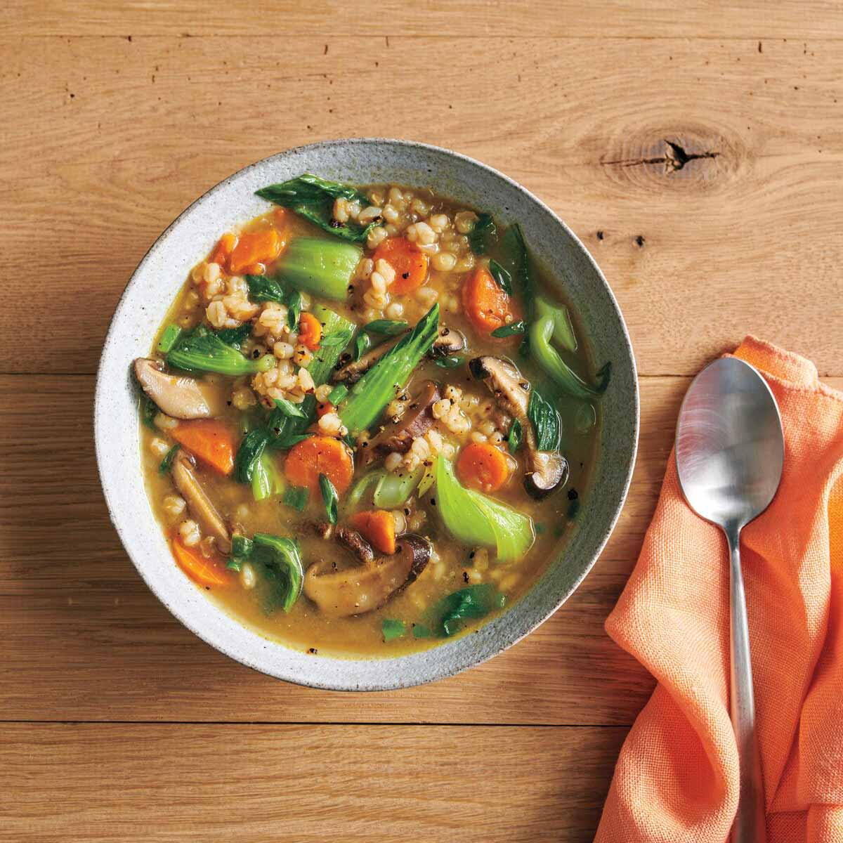 Photo of Mushroom-barley soup with red miso by WW