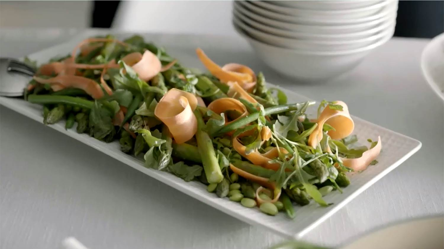 Photo of Shaved Carrot, Edamame, and Asparagus Salad by WW