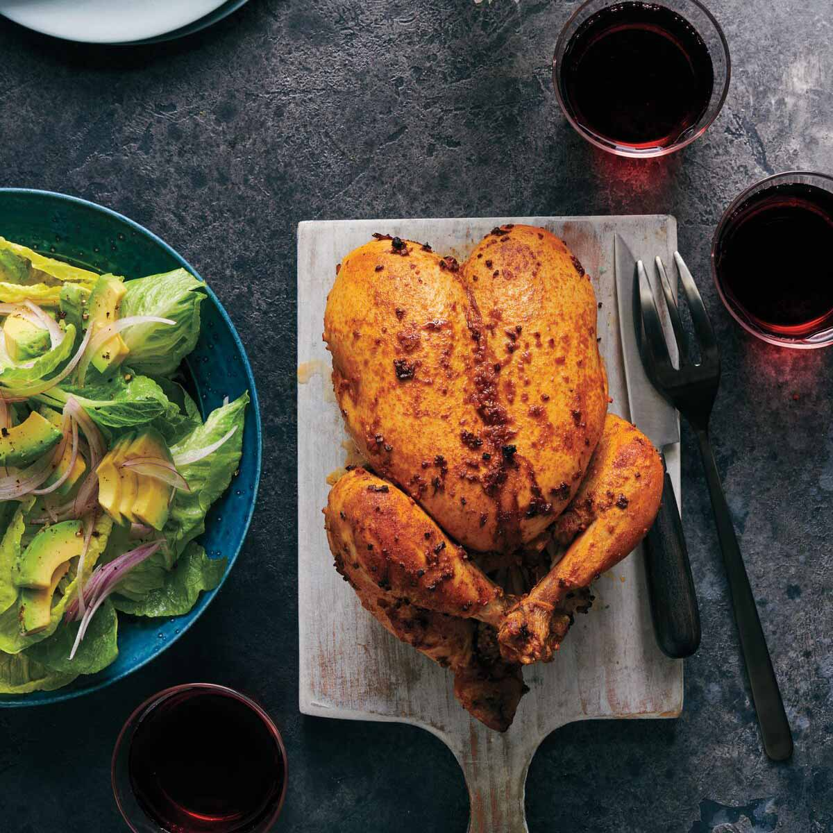 Photo of Peruvian roast chicken with avocado salad by WW
