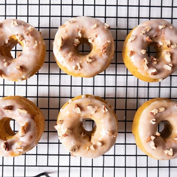 Photo of Cardamom sweet potato donuts with yogurt glaze by WW