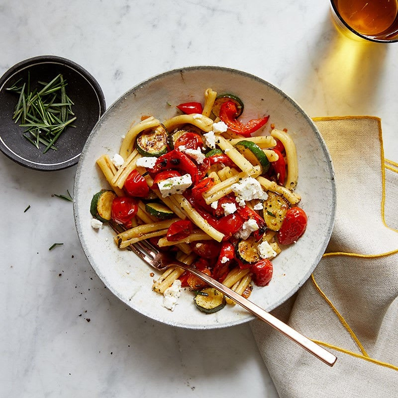 Photo of Pasta with rosemary-roasted vegetables and feta by WW