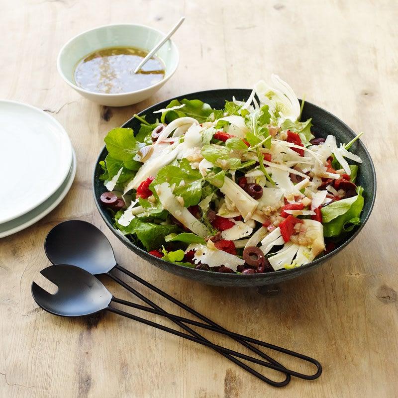 Photo de Salade de fenouil et de poivrons rôtis à la roquette et au parmesan par WW