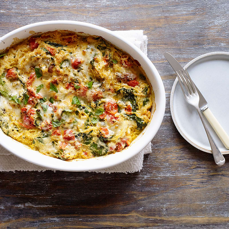 Photo of Creamy spaghetti squash with ricotta and spinach by WW