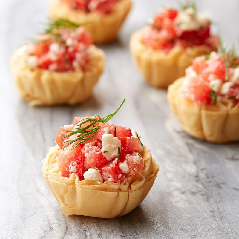 Photo de Tartelettes de phyllo croustillante aux tomates et au feta par WW