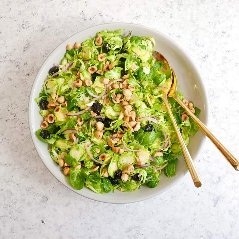 Photo of Brussels sprouts salad with dried cherries and hazelnuts by WW