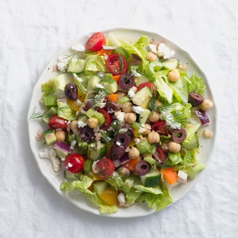Photo of Greek chopped salad with feta and olives by WW