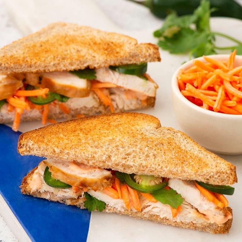 Photo of Vietnamese chicken salad sandwich by WW