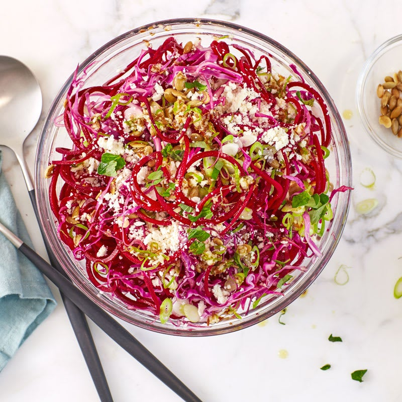 Photo of Spiralized Beet Slaw with Lime and Pepitas by WW