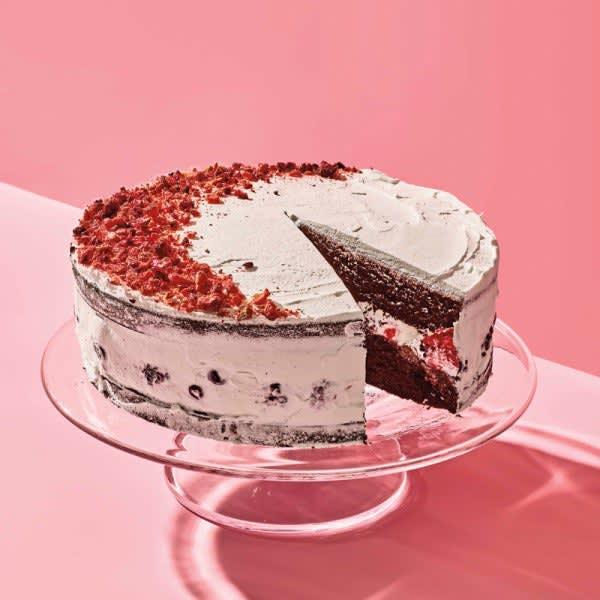 Photo de Gâteau au chocolat avec fraises lyophilisées par WW