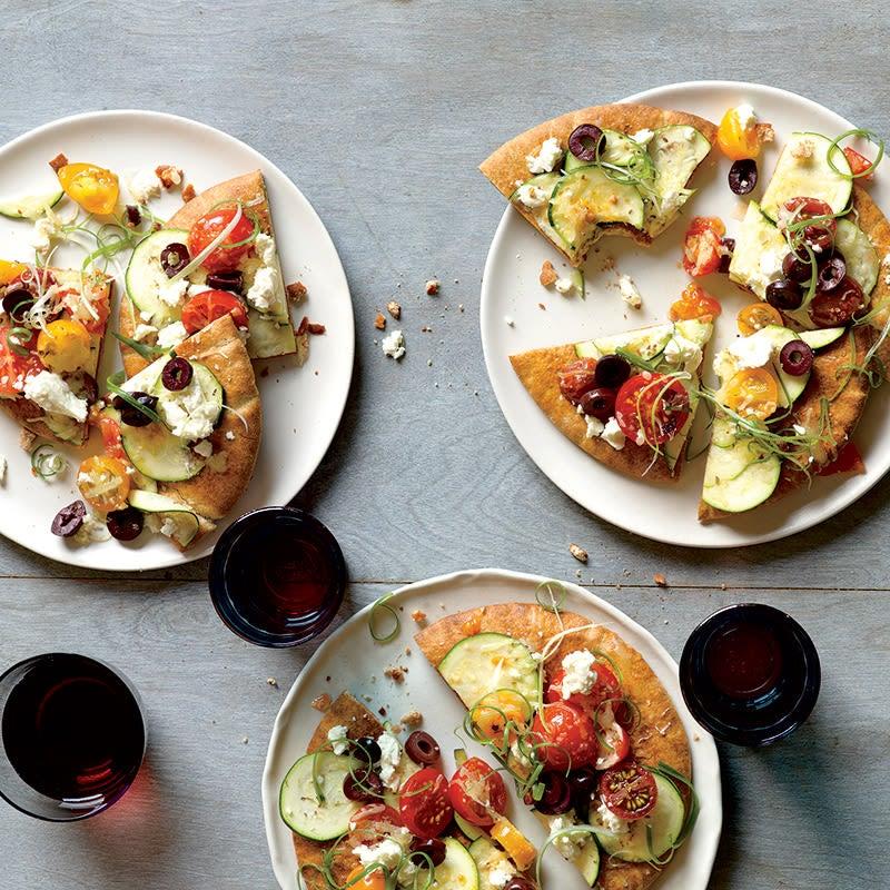 Photo de Pitas pizzas à la courgette et aux tomates par WW