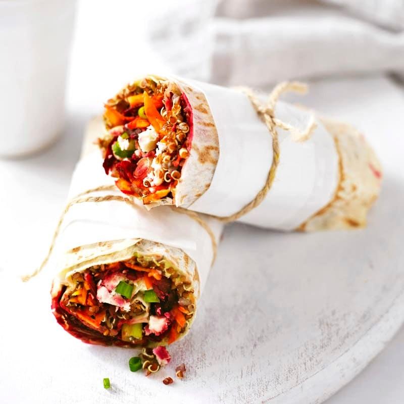 Photo of Avocado and quinoa veggie wrap by WW