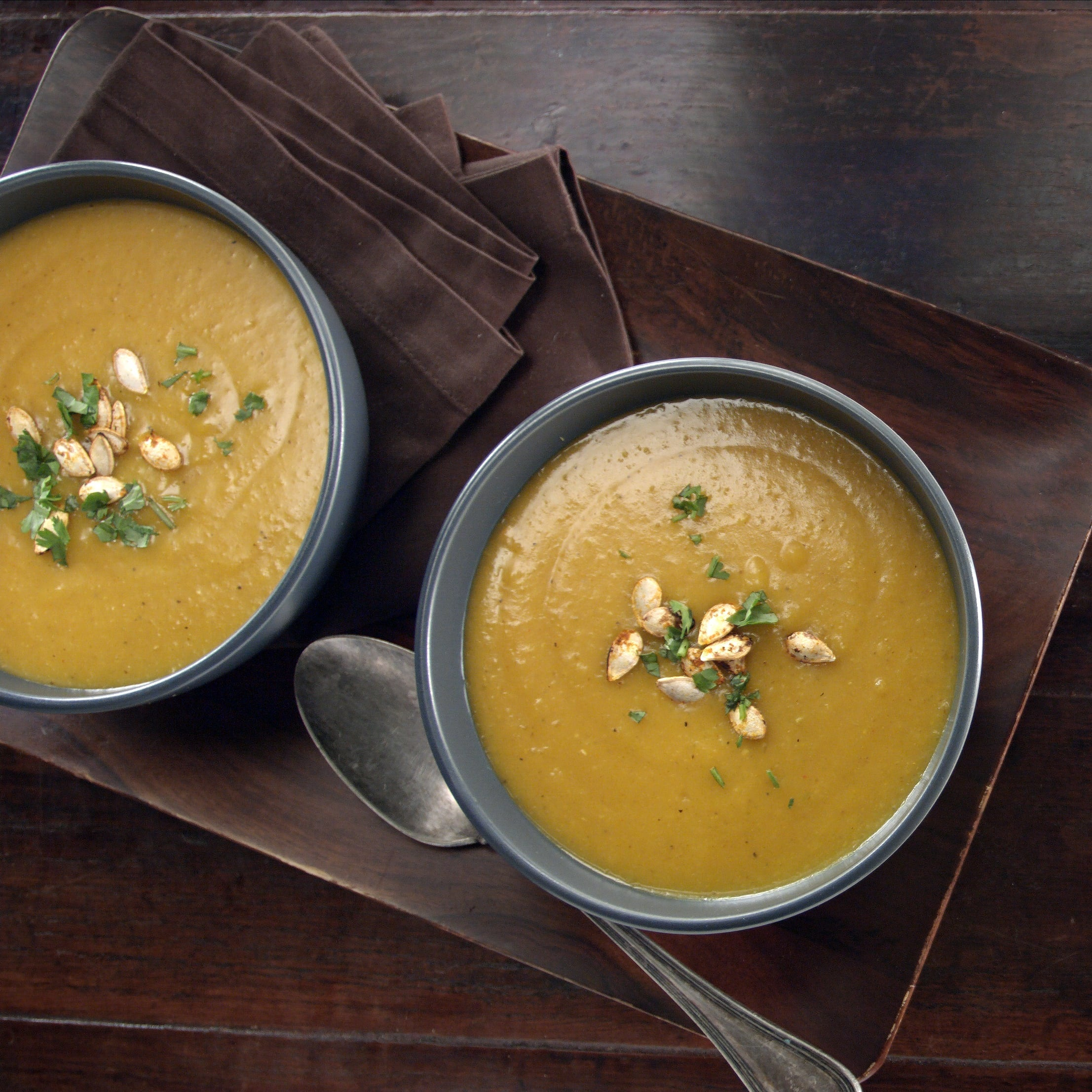 Photo of Curry Roasted Butternut Squash Soup by WW