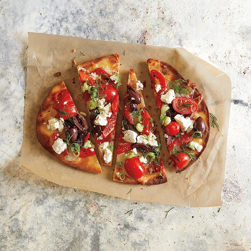 Photo de Pizza grecque à croûte mince par WW
