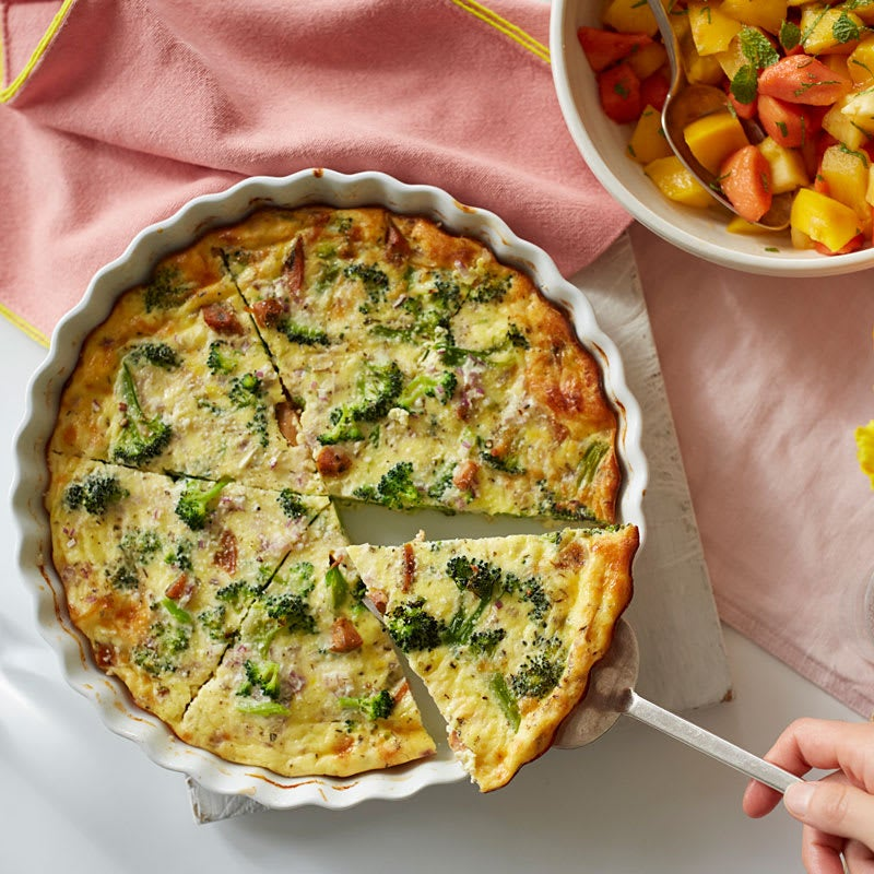 Photo of Crustless broccoli and sausage quiche by WW
