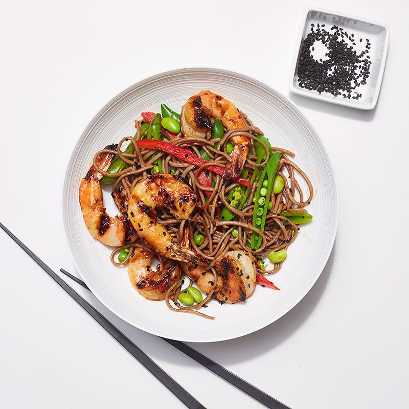 Photo of Ginger-grilled shrimp and soba noodle salad by WW