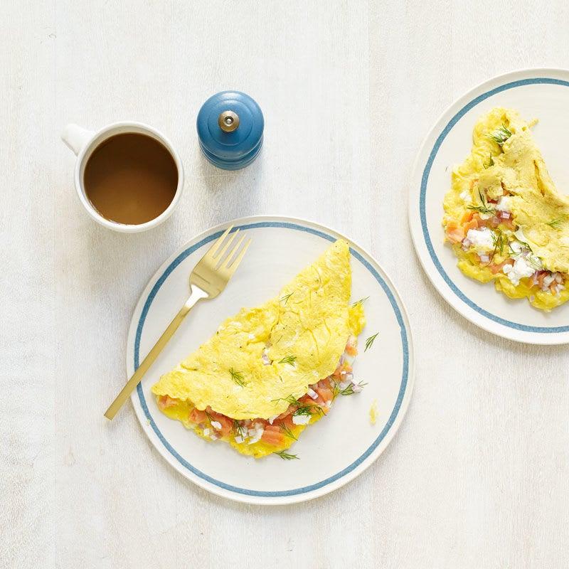 Photo de Omelette au saumon fumé et au fromage de chèvre par WW