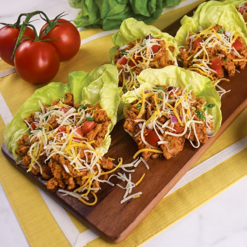 Photo of Ground turkey taco lettuce wraps by WW