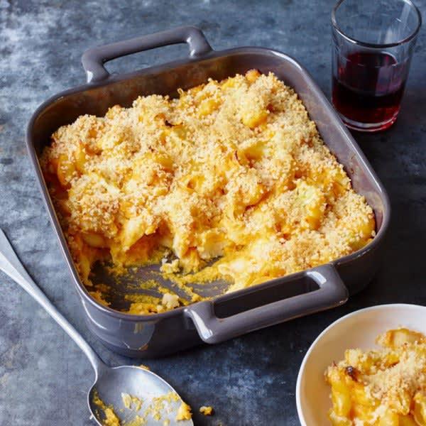 Photo de Macaronis au fromage au dessus croustillant par WW
