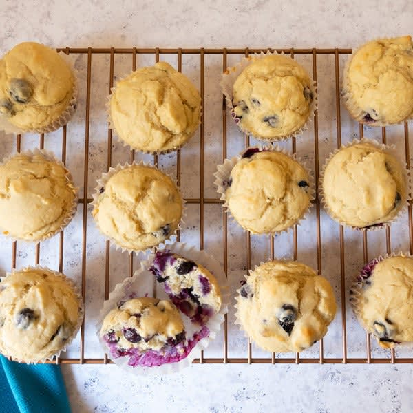 Photo of No-added-sugar blueberry muffins by WW