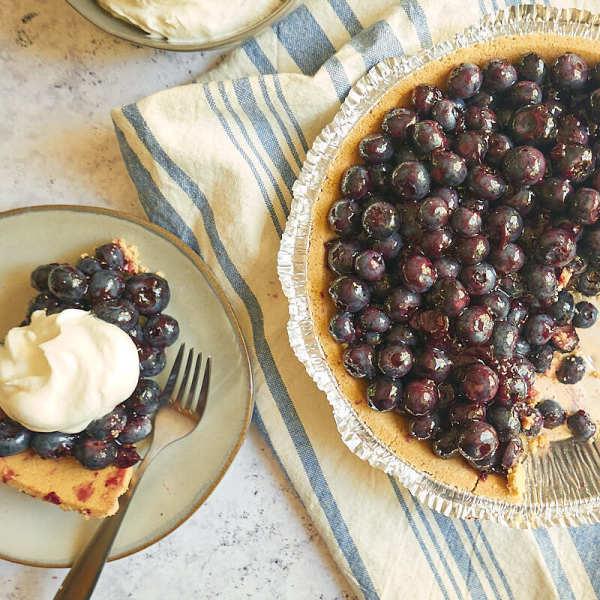 Photo of Four-ingredient fresh blueberry pie by WW