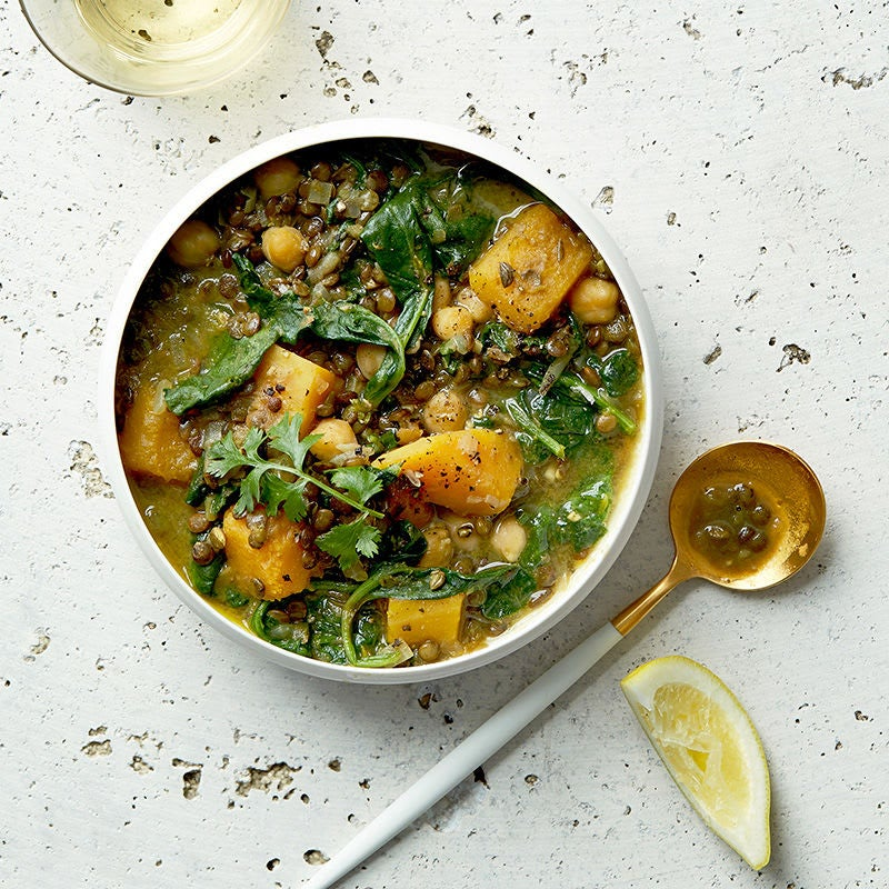 Photo of Curried French lentil and butternut squash stew by WW