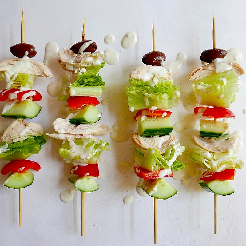 Photo de Kébabs de salade grecque par WW