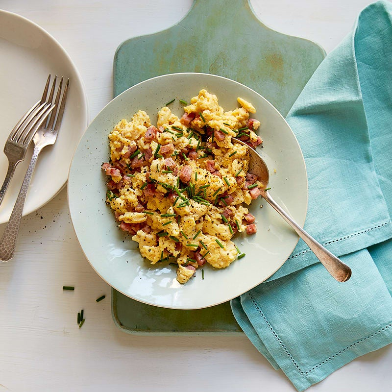 Photo of Ham and eggs with parm and herbs by WW