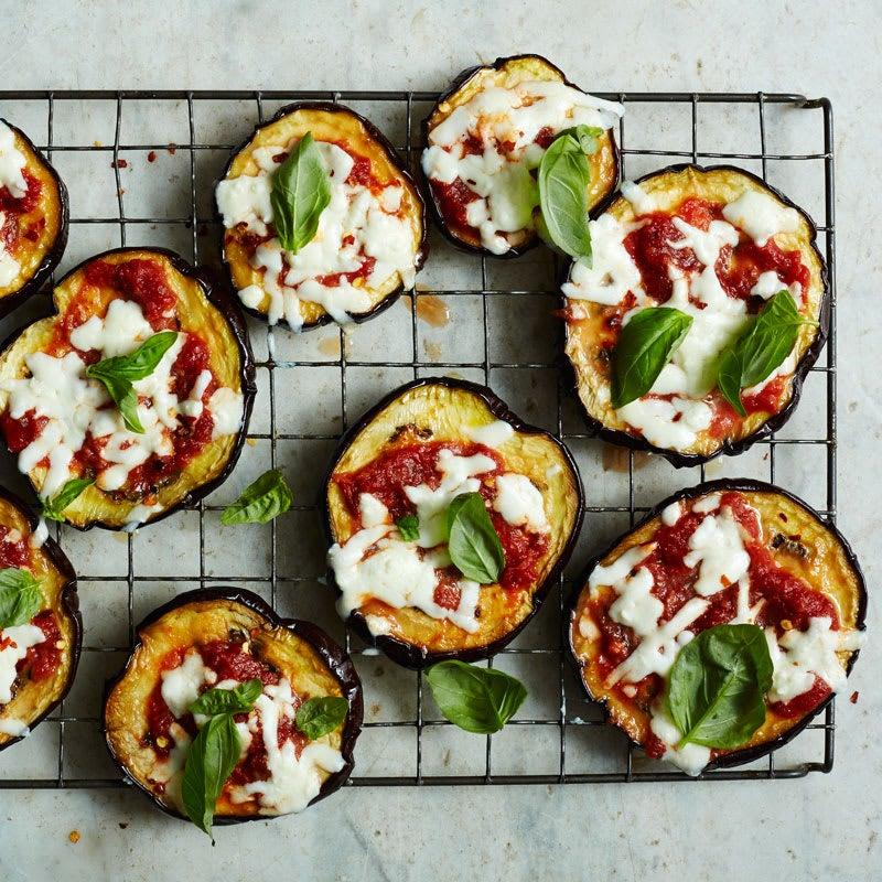 Photo de Minipizzas margheritas à l'aubergine par WW