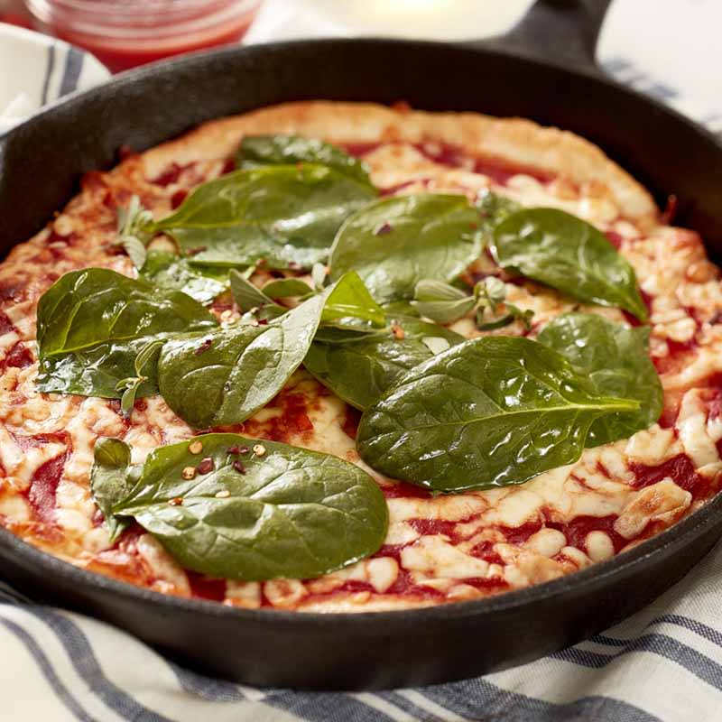 Photo of 2 Ingredient dough cast iron pizza by WW