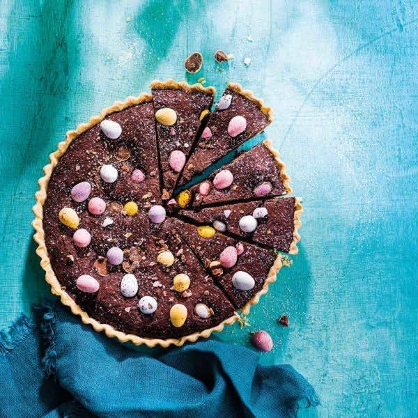 Photo de Tarte de brownie et de mini œufs par WW